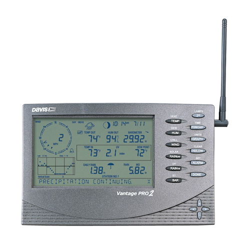 Davis 6312EU the Console of management for a wireless meteorological station of Vantage Pro2
