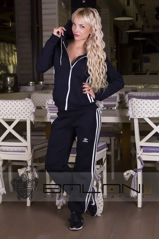 Женские спортивные костюмы Спорт костюм Adidas (717 АР)  темно-синий ... 3b12d6c9a83