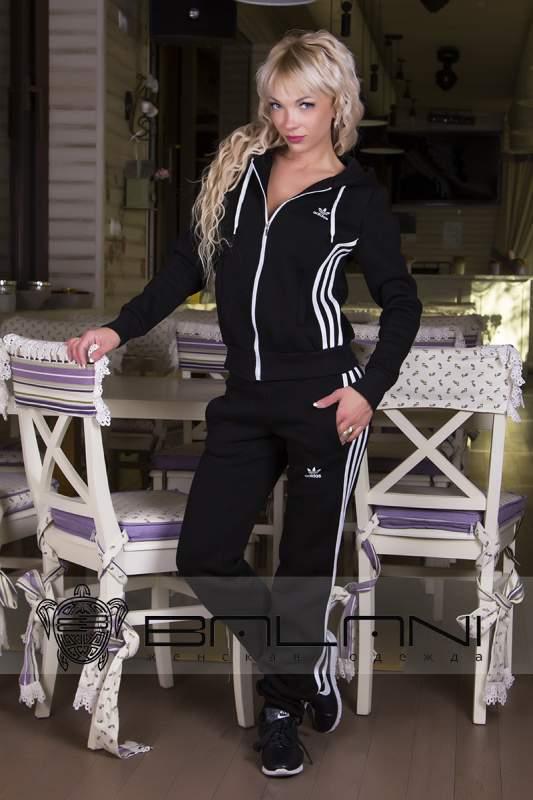 Жіночі спортивні костюми Спорт костюм Adidas (717 АР)   Чорний ... 67ddd4c915c58