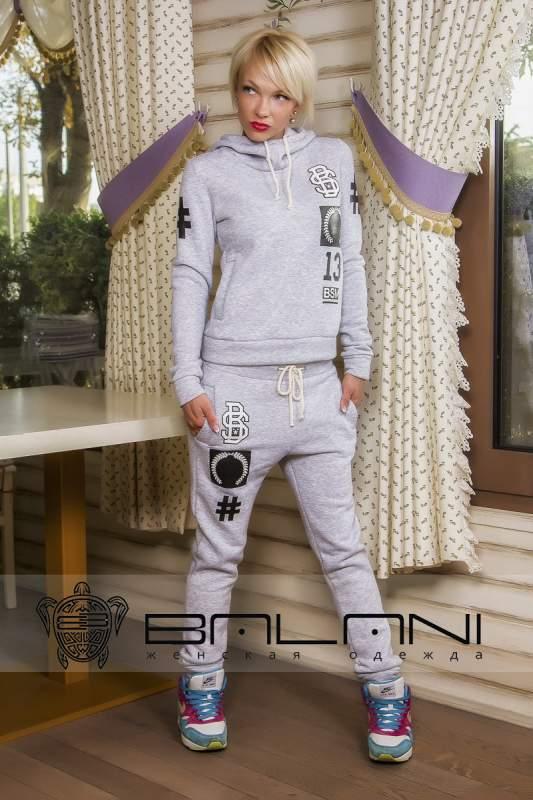 Жіночі спортивні костюми Спорт костюм BS (305   ВІД)  теплий   сірий ... dec504469314b