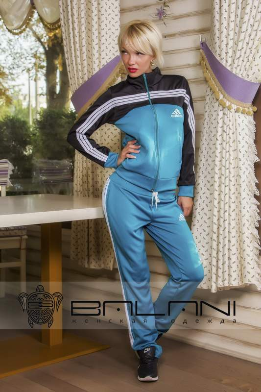 Женские спортивные костюмы Спорт костюм Adidas(263 ОТ) ментол купить ... 9df5c85713d