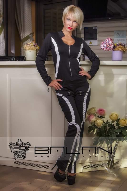 Жіночі комбінезони Комбінезон (493 ЖК)  чорний   вставки Білі купити ... 3b4ff6073cb4e