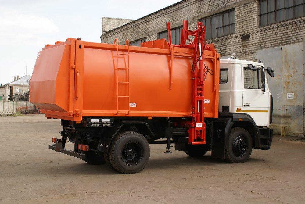 Buy HAVING POURED in the equipment of the autogarbage truck of lateral loading Pass B