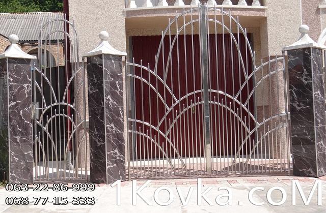 Купить Ворота и калитки из нержавеющей стали