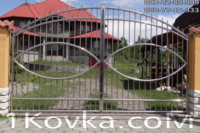 Купить Ворота дачные, коттеджные из нержавеющей стали