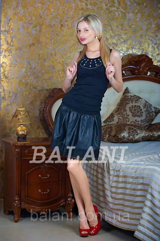 4120de5dc8b Одежда для женщин Юбка кожа черная