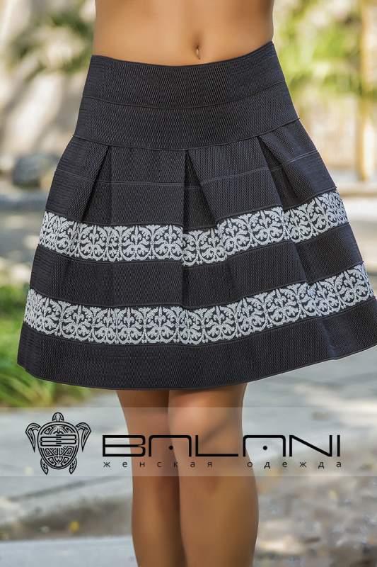 Черная юбка резинка фото
