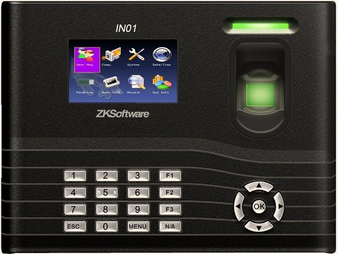 Биометрический терминал учета рабочего времени ZK Software IN01