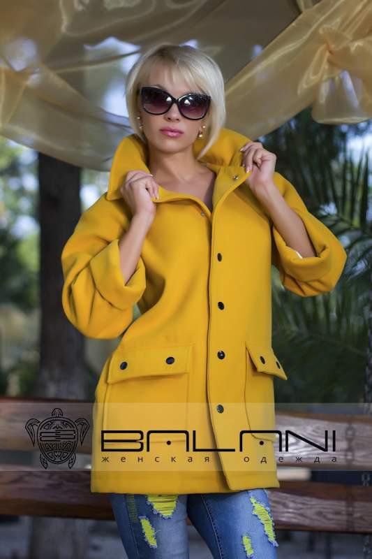 Жіночі куртки. пальто ПАЛЬТО (665 ВШ)   ЖОВТЕ купити в Одеса 325304befe774