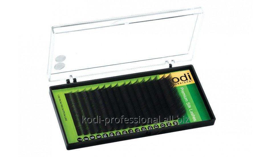 Ресницы темно-фиолетовые B 0,15 (16 рядов: 10/12/14/16) упаковка Green