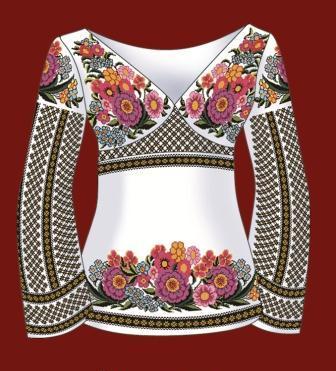 Схема для вишивання жіночої
