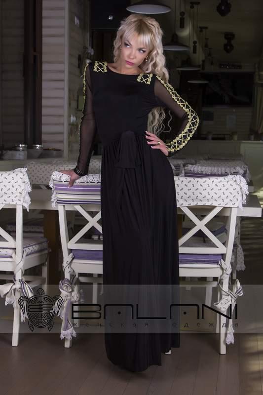 Довгі плаття Плаття в підлогу 227 Л   Чорне  золота паетка купити в ... e688ee41df409