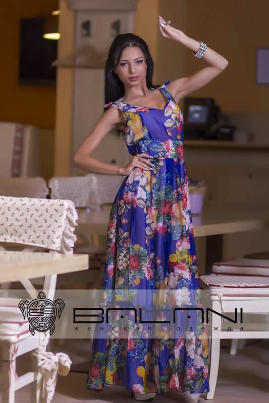 Довге плаття Плаття електрик у квіти (415 ТР) купити в Одеса bda08ea0a25b4