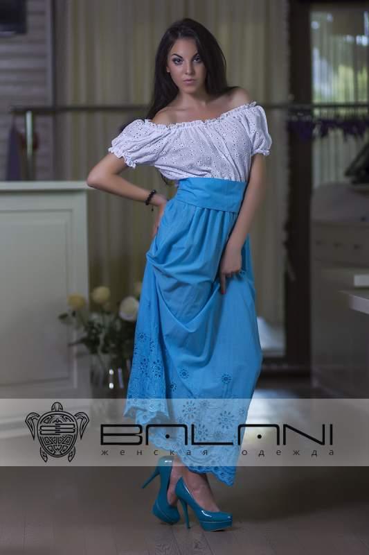 Довге плаття Плаття верх білий 89dc55915ade9