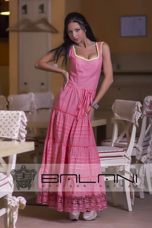Довге плаття Плаття рожеве довге Код  196 Л купити в Одеса 058e69142ed10