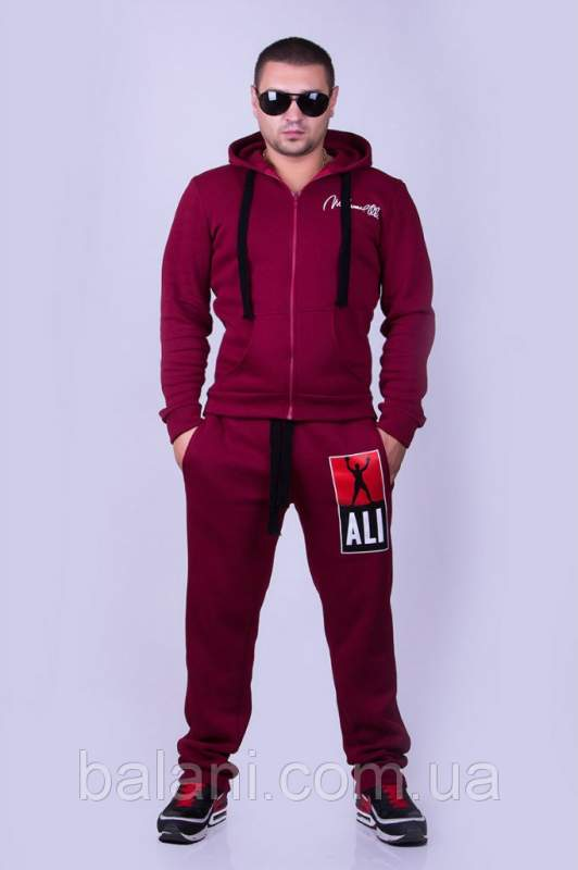 6a4183fff16c Мужская одежда Мужской спорт костюм MUHAMMAD ALI (117 БИ)  БОРДО ...