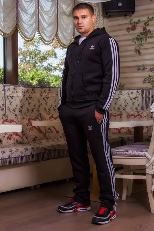06e2c2b99cf9 Мужская одежда Мужской спорт костюм Adidas (962 ДП)  теплый  черній ...
