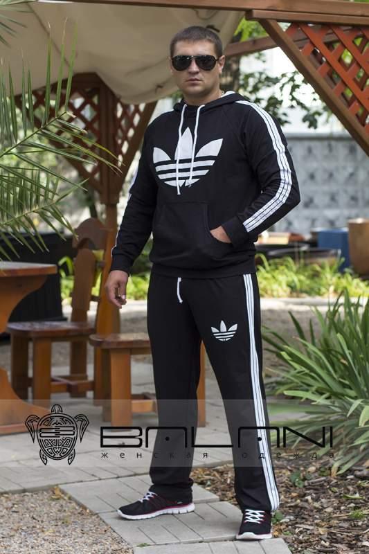 Мужская одежда Мужской спорт костюм Adidas (323 ДП)  черный купить в ... 3c42dcc94e0