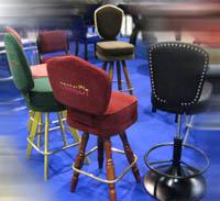 Оборудование для казино, Мебель для  для игрового бизнеса, изготовление. Стулья с логотипом заведения.