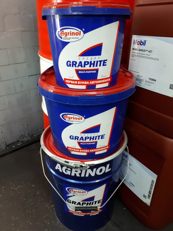 Lubricant Graphitic, Agrinol, bucket of 17 kg