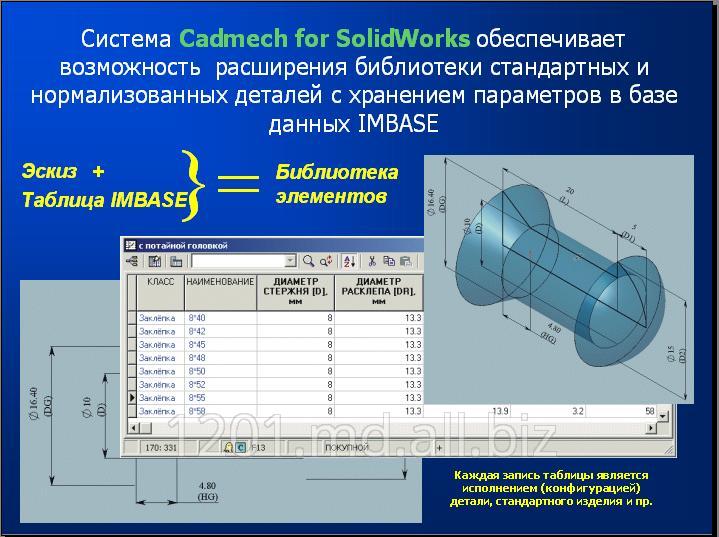 Купить Программный продукт CADMECH для SolidWorks