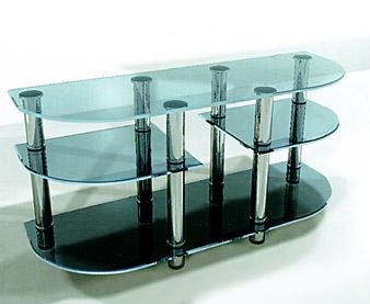 Столик-стойка из стекла для плазменных телевизоров