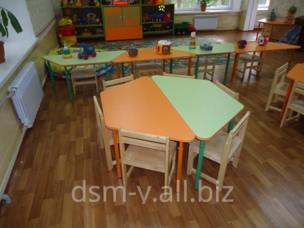 Столы для детского сада 'трапеция' купить в днепр.