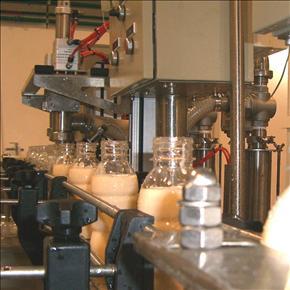 Купити Пакувальний автомат по розливу молока в ПеТ пляшки.