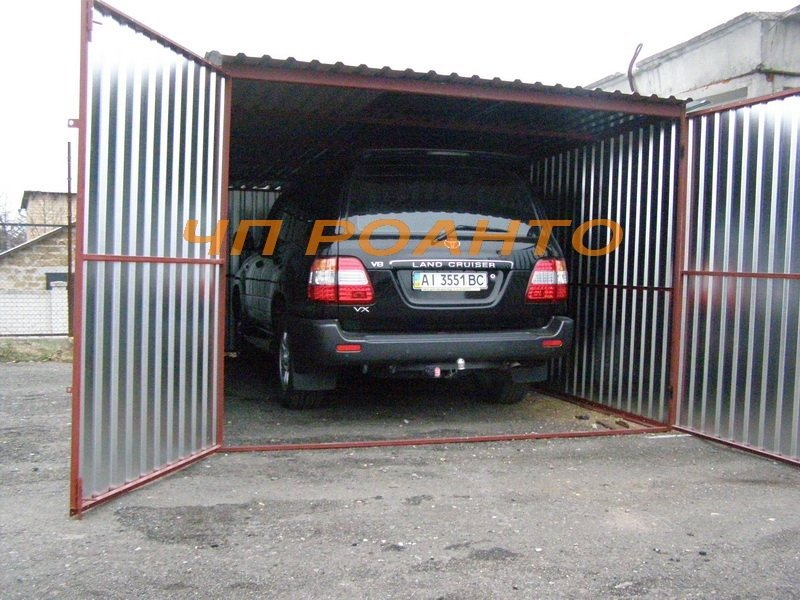 Metal garages from the galvanized pro-thinned-out steel 0,75 of ONLY 9000,00 UAH