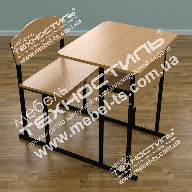 Стол ученический одноместный с лавкой (МС-10)