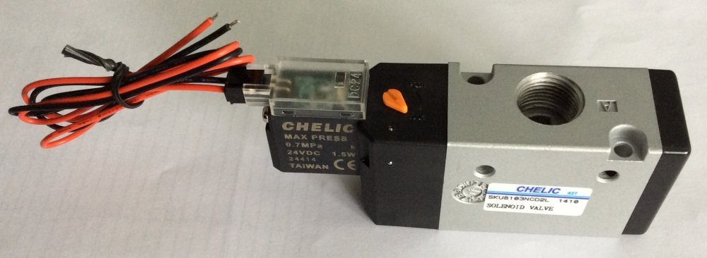 Buy Pneumatic distributor electromagnetic SKU 6102-NC-L-24VDC