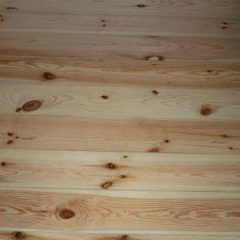 Wooden floor boards from pine