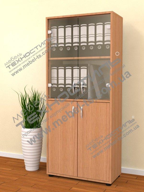 Шкаф офисный со стеклом (Б 264)