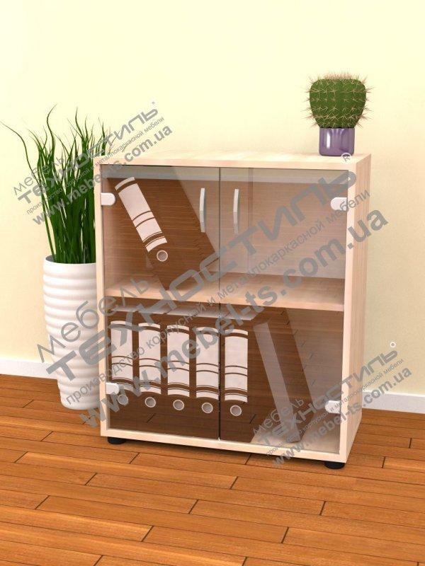 Шкаф для бумаг со стеклом (Б 474)