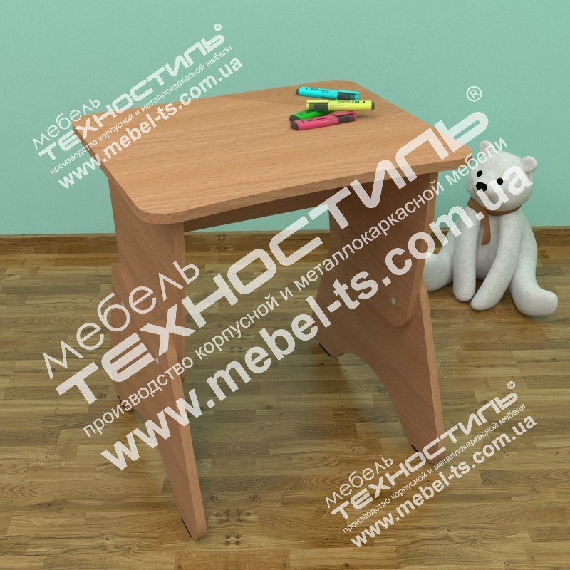 Столик детский одноместный с регулировкой высоты