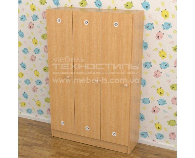 Шкаф для раздевалки в детский сад на 3 секции (920х250х1250 мм)