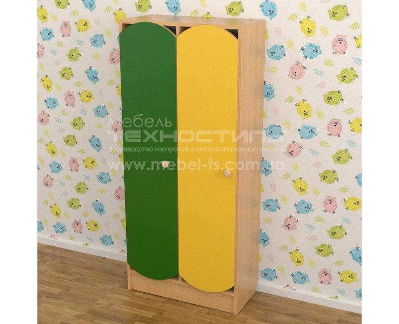 Шкаф для раздевалки в детский сад цветной