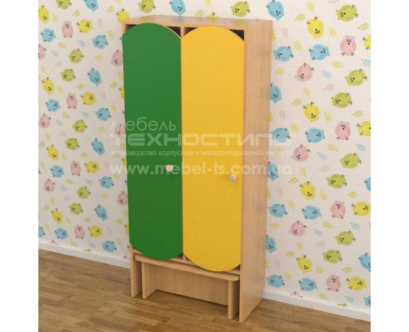 Шкафы секционные для раздевалки с лавкой