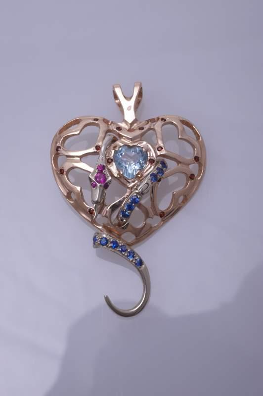 Кулон золотой в Киеве (Изделия ювелирные из драгоценных камней, кулоны, кулоны золотые, кулоны из золота, кулоны купить)
