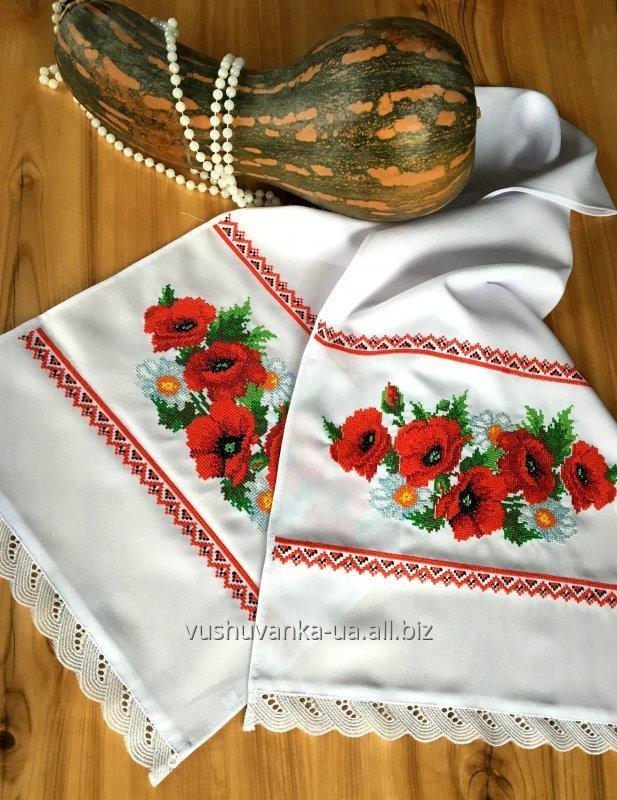 "Buy The embroidered bench hammer ""Poppies, camomiles"