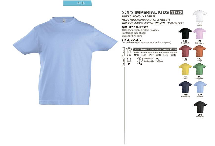 Дитячі футболки оптом SOL S футболки оптом SOL S IMPERIAL KIDS ... 1aafa5e7df8b3