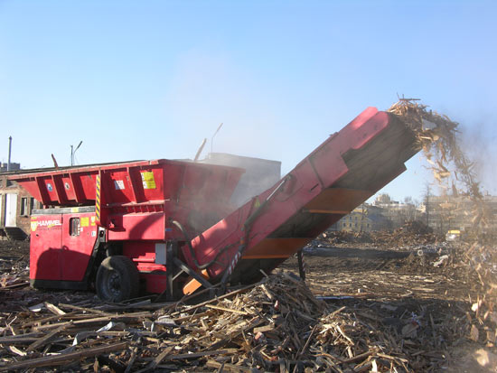 Дробилка валковая, оборудование для измельчения твердых бытовых отходов (ТБО)