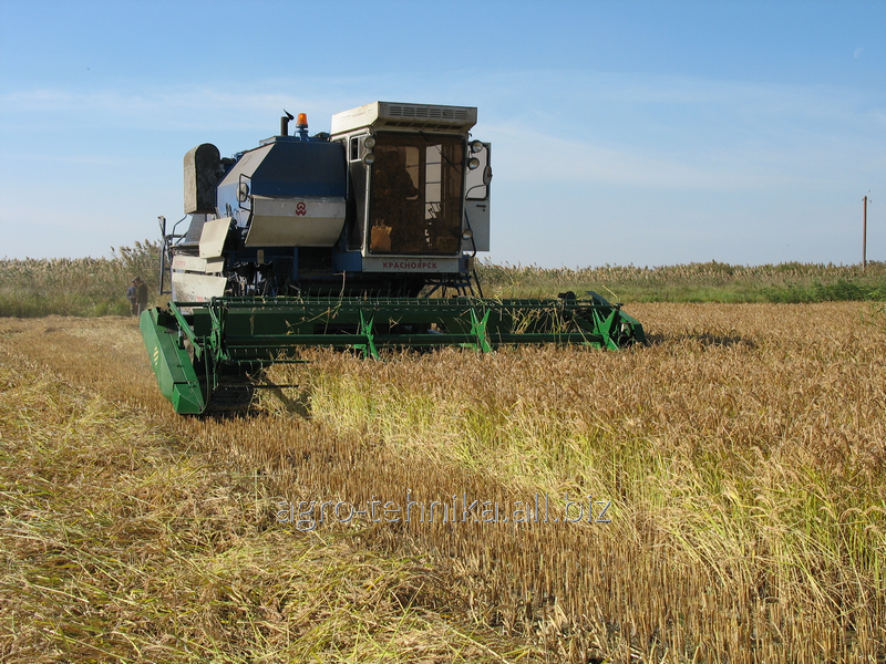 ZhVU harvester for rice cleaning