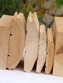 Блок-хаус деревянный сосна - frame house Ukraine. Укладка
