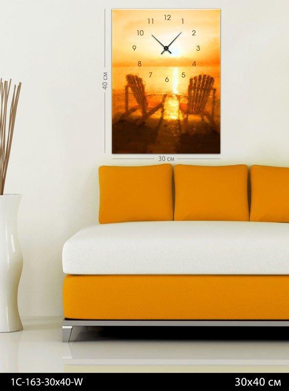 Картина-часы Закат сонца, код 1С-163-30x40-W