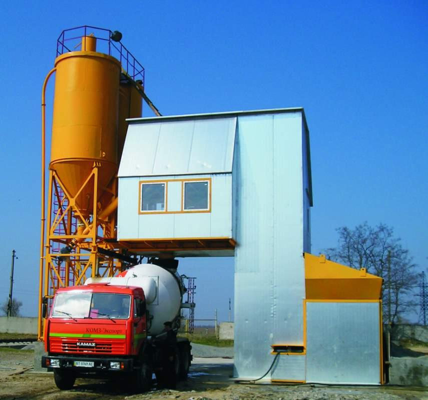 Бетонорастворосмесительные установки УБРС.040 ( 40м.куб/час ), УБРС.060 ( 60м.куб/час )  включают все необходимое оборудование для производства товарного бетона и строительных растворов.