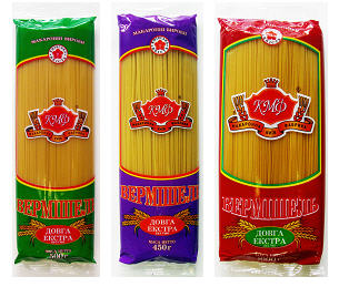 """Купить Вермишель длинная (спагетти) """"Экстра"""" сорт высший, изделия макаронные длиннорезанные. Производитель Киевская макаронная фабрика. Вермишель длинная (спагетти) весовая или фасованная в пакеты из пленки либо в пачки из картона"""