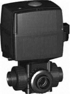 Купить Трёхходовой шаровой кран тип 175, PVC-UГоризонтальный / с L-образным отверстием,24 В С возможностью аварийного ручного управления С раструбами для клеевого соединения, метрическими