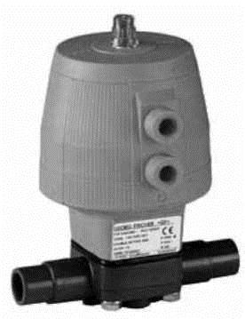 Купить Мембранный клапан тип DIASTAR, PVC-UСерия 025, FC(нормально закрытый) С разьемными патрубками для клеевого соединения, метрическими