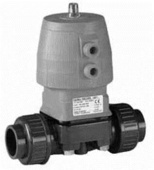 Купить Мембранный клапан тип DIASTAR, PVC-UСерия 025, FO(нормально открытый) С фиксированными фланцами из PVC-U, метрическими